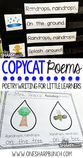 poetry activities for the primary classroom one sharp bunch