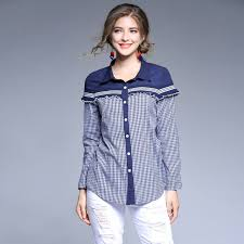 plus size blouses and tops spliced sleeve shirt plus size shirts plaid check