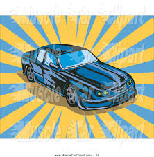 teal car clipart automotive clipart of a blue ford gt v8 muslce car over yellow and