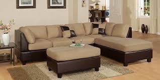 microfiber faux leather 3 piece sectional sofa set 2018 2019