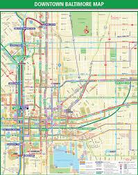 Baltimore Subway Map by Baltimore Downtown Transport Map U2022 Mapsof Net