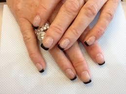 acrylic overlay with black gel polish on tips nic senior flickr