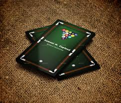 billiard business card by pixelpoint graphicriver