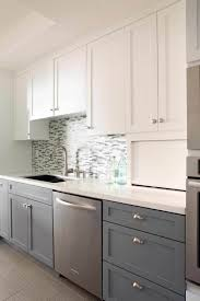 grey kitchen backsplash glass subway tile with white cabinets our