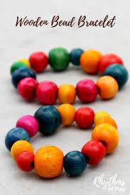 wooden bead bracelet kids craft gift idea rhythms of play
