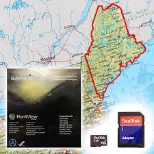 map usa garmin free garmin huntview map card maine 79 99