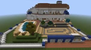 modern mansion with piston elevator minecraft project