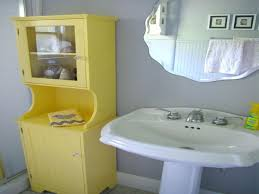 yellow and gray bathroom wall art unique towel tray floor mount