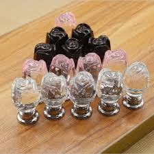 compare prices on glass flower kitchen cabinet knobs online