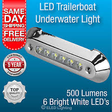 12 volt led lights waterproof underwater trailer boat light white 500 lumen 12 volt led boat