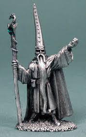 pewter darius the blue wizard fantasy figure