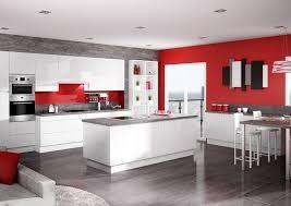 cuisine blanc brillant discac cuisines équipées les boréales laquée blanc brillant