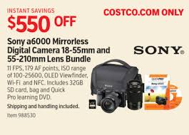 sony camera black friday costco deal sony a6000 mirrorless digital camera 18 55mm and 55