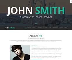 Online Resume Website by 10 Resume Vcard Joomla Templates