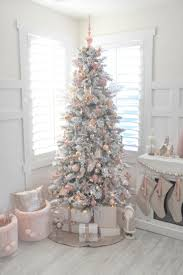 best 25 pink christmas decorations ideas on pinterest pink blush pink and white flocked vintage inspired christmas tree by kara s party ideas kara allen
