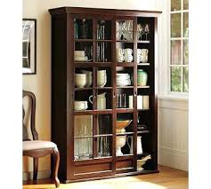 bookcase antique bookcase with sliding glass doors mid century