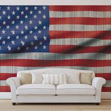 United States American Flag Usa American Flag Wall Paper Mural Buy At Europosters