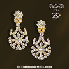 earrings in grt stunning diamond earrings from grt jewellers south india jewels