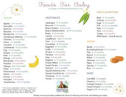 table food for 9 month old solid food chart by types of foods apples broccoli and more