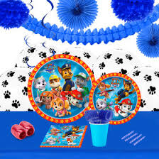 paw patrol birthday party deluxe tableware kit serves 8