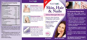 natrol skin hair u0026 nails 60 tablets biotin lutein collagen
