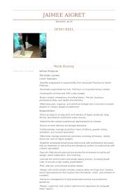 Production Resume Examples by Senior Producer Resume Samples Visualcv Resume Samples Database