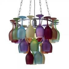 Multi Coloured Chandeliers Multi Coloured Wine Glass Chandelier Litecraft