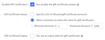 using gift certificates bigcommerce support