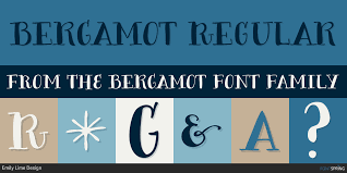 similar fonts to bergamot fontspring