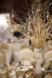 glamorous gold and white no flowers just cool sticks and