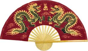 oriental fans wall decor chinese wall fans maroon dragons