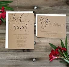 wedding invitation packages printed country rustic wedding invitation rsvp w