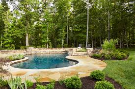 country stone pool waterfall with outdoor kitchen u2014 marcia fryer