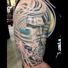 Patriotic Flag Tattoos Rob Warren Certified Artist