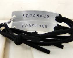 his and hers items his and bracelet etsy