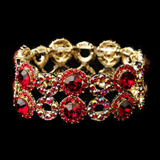 red crystal bracelet images Gold stretch bracelet red crystal bracelet crystal stretch bracelet jpg