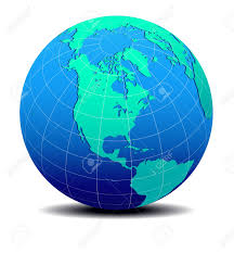 World Map South America by North And South America Global World Map Royalty Free Cliparts