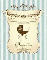 Invitation Card Baby Shower Vintage Baby Shower Invitation Card With Ornate Elegant Retro