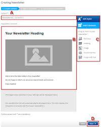 create a new newsletter 1 u00261 help center