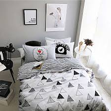 triangle bedding memorecool north european simple style 3pcs black and white