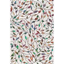 artscape 24 in x 36 in new leaf decorative window film 02 3021