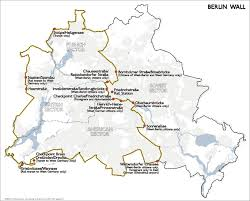 Map Of East And West Germany by Map Of Berlin Wall Location