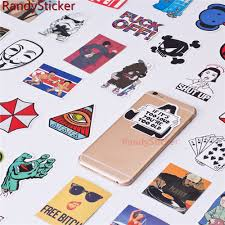 motorcycle home decor 50 pcs mixed single sticker waterproof home decor doodle laptop