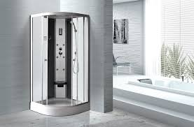 amusing 50 enclosed shower decorating design of enclosed shower enclosed shower matt silver profiles curved glass shower enclosures enclosed