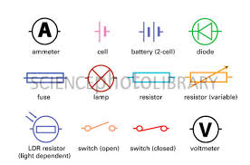 standard electrical circuit symbols stock image t356 0591