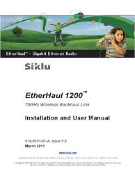 siklu etherhaul manual electrical connector last mile