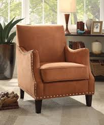 Fabric Accent Chair Acme 59445 Rust Red Fabric Accent Chair Cheny Furniture Chicago
