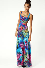 boo hoo clothing peacock maxi dress boohoo fashion belief