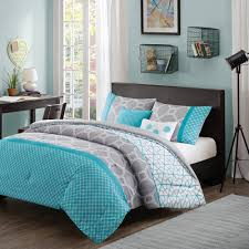 Bedding Quilts Sets Comforter Bedroom 5 Bedding Aqua Blue Grey Set Winter