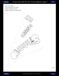 studio elite tyler duncan wiring page 01 james tyler guitars
